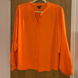 🌺 a.n.a orange blouse size Large🌺